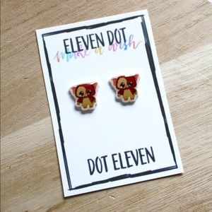 Classic Movie Gizmo Gremlins Halloween Earrings